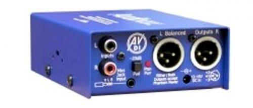 AV-DI :  St. phono/mini jack – balanced XLRs