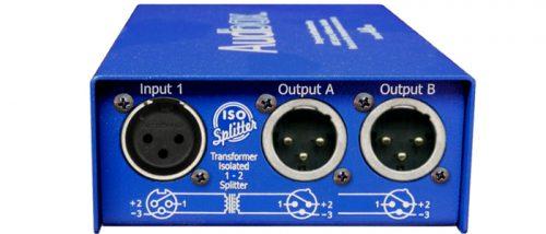 ISO Splitter Duo :  2:4 2 ch. transf. isol.