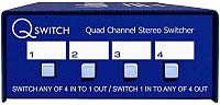 Q Switch : Quad Channel Stereo Switcher